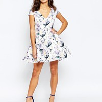 True Decadence Petite | True Decadence Petite Fit And Flare Printed Prom at ASOS
