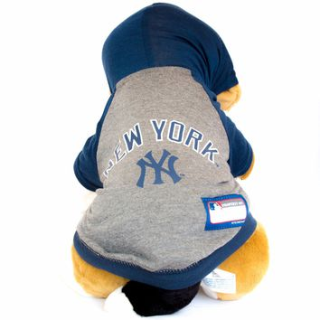 New York Yankees Hoodie Dog Shirt MLB Baseball Official License Pet Product