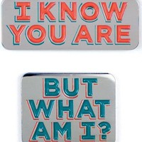 I Know You Are & But What Am I Pee-wee Herman Enamel Pin Set