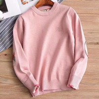 Burberry Girls Boys Children Baby Toddler Kids Child Fashion Casual Top Sweater Pullover