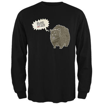 New Year's Stop Eating Garbage Black Adult Long Sleeve T-Shirt