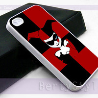 Iphone Case - Iphone 4 Case - Iphone 5 Case - Samsung s3 - samsung s4 - Harley Quinn Batman Joker Cute Face - Photo Print on Hard Plastic