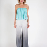 Sydney jumpsuit in aqua/grey