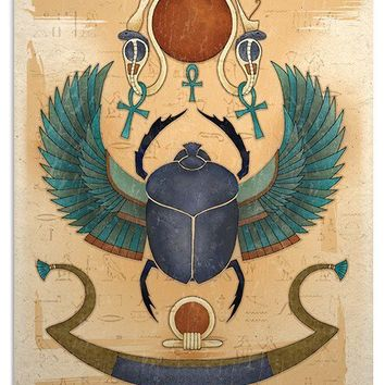 Egyptian Winged Scarab Art Print