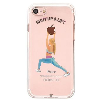 Shut Up & Lift iPhone Case Blonde Hair