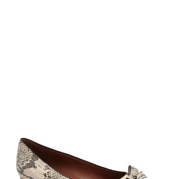 Cole Haan Alice Snake Embossed Pointy Toe Flat