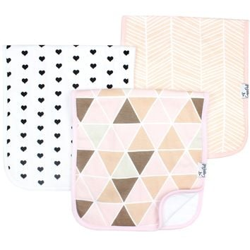 Baby Burp Cloths-Blush