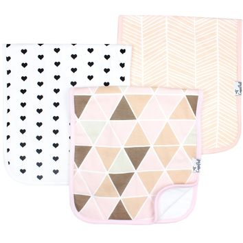 Burp Cloths-Blush