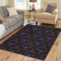 Pattern on Black Area Rug7'x5' | ID: D1883957
