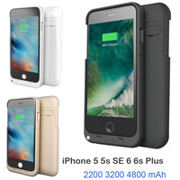 Apple iPhone 5, 5S, 6, 6S - External Power Bank Charger with Tempered Glass Film and USB cable line