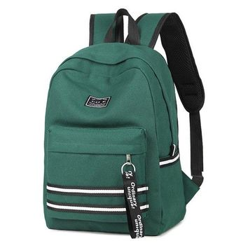University College Backpack New Fashion Canvas Shoulder Bag Female Junior High School  Student Simple Hit Color School Wind Travel  AT_63_4
