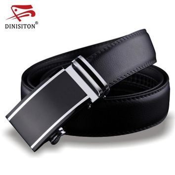DINISITON Genuine Designer Adjustable Leather Belts