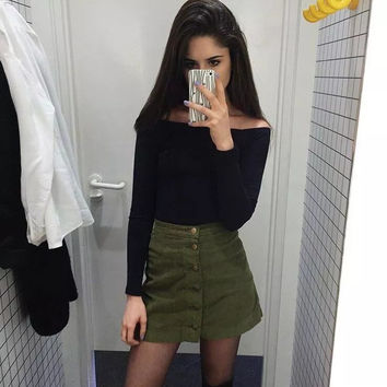 Women's Fashion High Waist Winter Lights Skirt [10203234503]