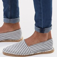 ASOS | ASOS Canvas Espadrilles With Stripe at ASOS