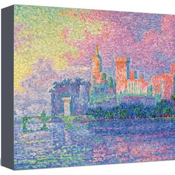 Papal Palace at Avignon Art Print by Paul Signac at Art.com