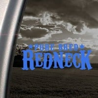 Pure Bred Redneck Blue Decal Car Truck Window Blue Sticker