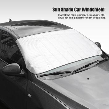 Window Aluminum Foil Sun Shade Car Windshield Visor Cover Block Front Window Sunshade UV Protect Car Window Film 150*70cm
