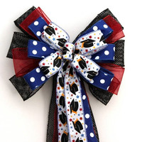 Graduation Cap Party Bow