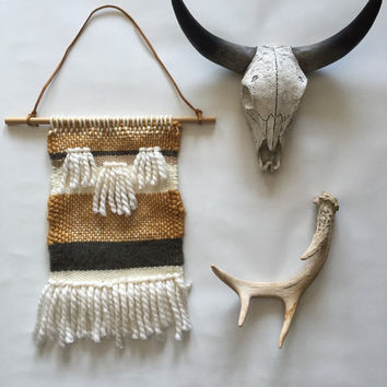 Woven wall hanging // Woven tapestry // weaving