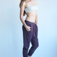 Crop Harem Pant Black Cherry