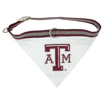 ESB7N7 Texas A&M Dog Collar Bandana