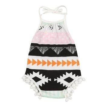 Baby Girls Aztec print Sleeveless romper 1b01428e0408