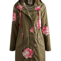 Grape Peony Raina Women's Waterproof Parka | Joules US