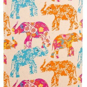 Elephants Recycled Handmade Paper Blank Journal (7