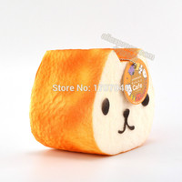 1PCS Jumbo 12CM Squishy Kapibarasan Toast Slow Rising Bread Collectibles With Tag Food Toys