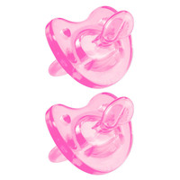 Chicco Soft Silicone 4+ Month Pacifier 2 Pack - Pink