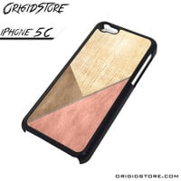 Chevron Wood Triangle Case For Iphone 5C Case