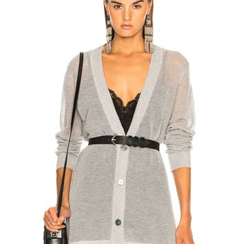AG Adriano Goldschmied Cameron Cardigan in Heather Grey | FWRD