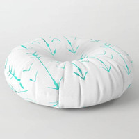 Teal Arrow Floor Pillows - Hand Drawn Arrows - Round or Square Floor Cushion - Decorative Pillow - Made to Order