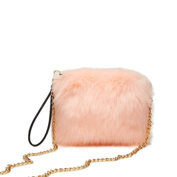 Faux Fur Crossbody