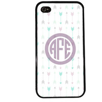 MONOGRAM TRIBAL ARROWS Case / Easy Personalization iPhone 4 Case iPhone 5 Case iPhone 4S Case iPhone 5S Case Initials Name iPhone 5C s5