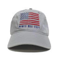 Flag Adult Grey Twill Hat