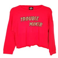 Trouble Maker Crop Sweatshirt