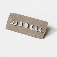 Moon Phases Earring Set