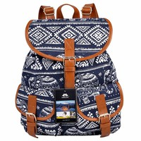 Canvas Backpack for Women & Girls Boys Casual Book Bag Sports Daypack