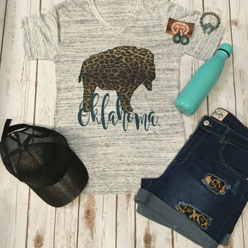 Leopard Bison with Turquoise Oklahoma