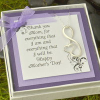 Mothers Day Sale Infinity Pendant  - Infinity Jewelry - Mother of the Bride Gift - Mother of the Groom Gift - Mothers Day Gift - Mothers Gif