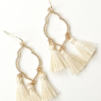 Tassel Earrings gold.