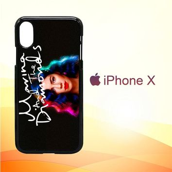 Marina and The Diamonds Z1529 iPhone X Case
