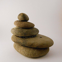 Cairn Stacked Stones Incense Burner/Home Decor/Art
