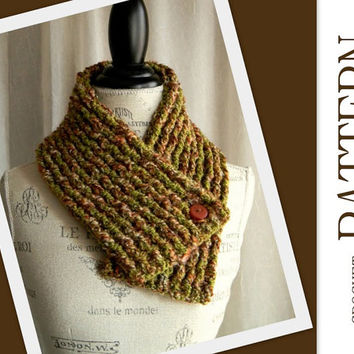 Crochet Pattern for Chunky Rib Neckwarmer Scarf