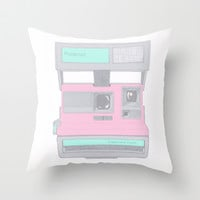 Pastel Polaroid Throw Pillow by Rachel Sample