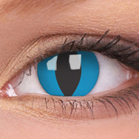 Blue Cats Eye Contact Lenses, Blue Cats Eye Contacts | EyesBright.com