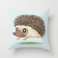 Hedgehog Throw Pillow by Toru Sanogawa