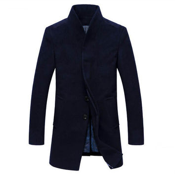 The Thompson Wool Topcoat Navy