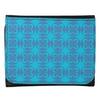 Geometric Floral in Bright Blue Wallets